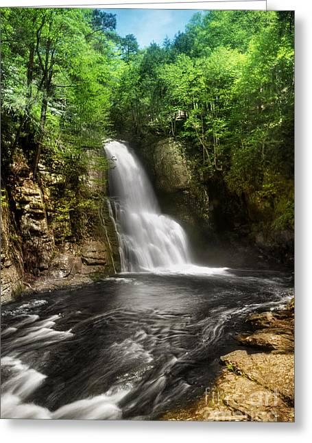 Bushkill Waterfalls Greeting Card by Yhun Suarez