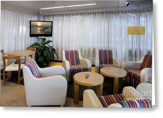 Business Lounge At An Airport Greeting Card