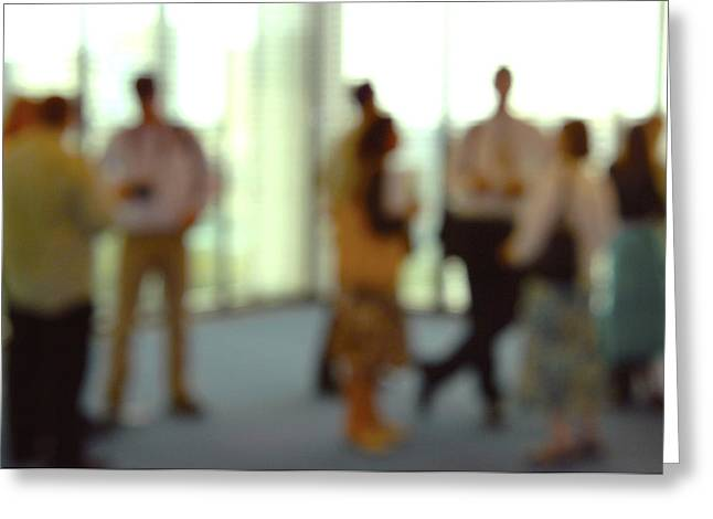 Business People Greeting Card by Johnny Greig