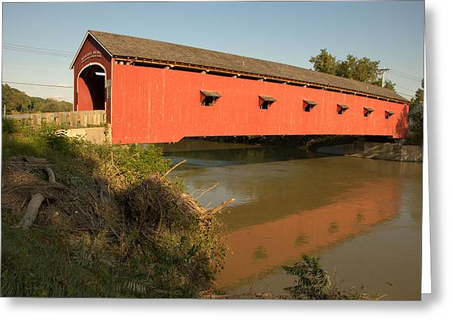 Greeting Card featuring the photograph Buskirk Covered Bridge by Steven Richman