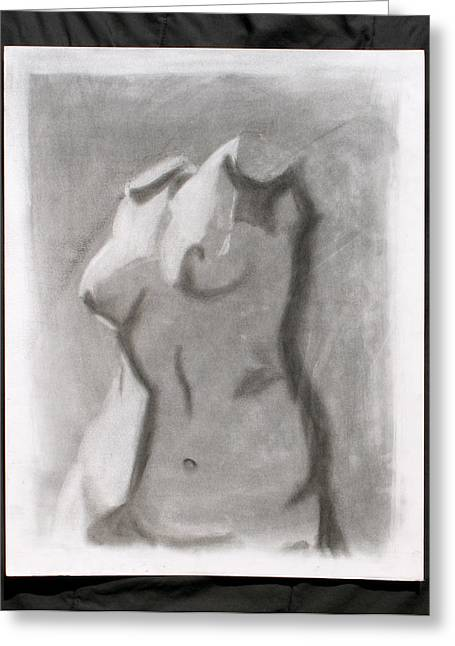 Bust Of A Woman's Torso Greeting Card by Raymond Bucklew