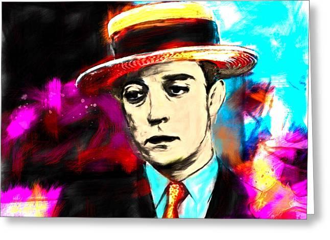 Buster Keaton Greeting Card by Arne Hansen