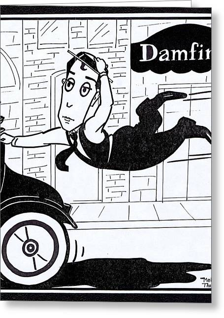 Buster Keaton Cops Greeting Card