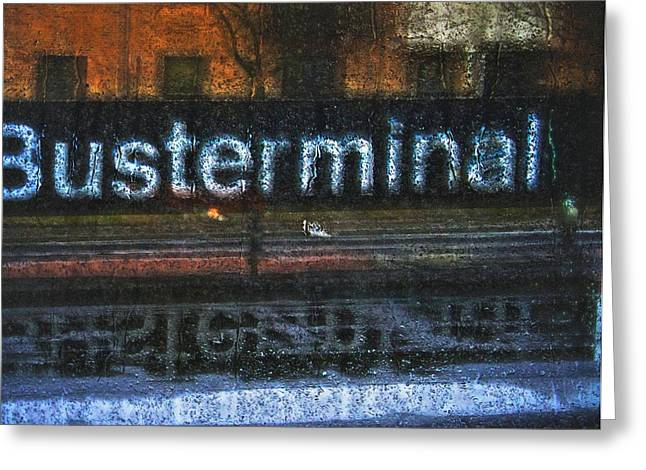 Busterminal Greeting Card by Odd Jeppesen