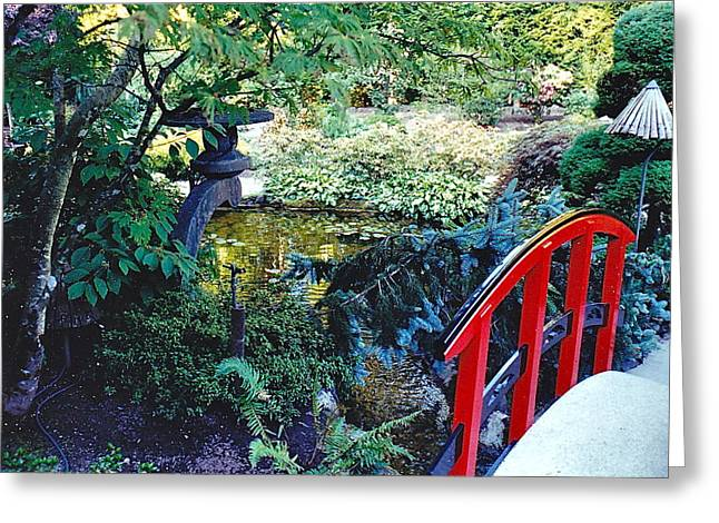 Butchart Gardens Japanese Bridge Greeting Card
