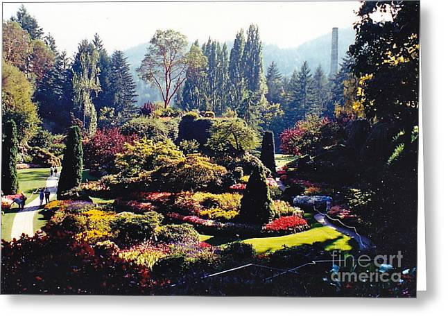 Butchart Gardens Splendor Greeting Card