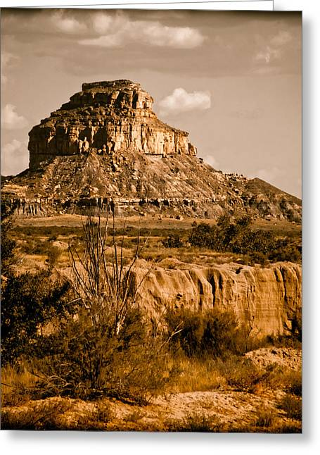 Chaco Canyon, New Mexico - Butte Greeting Card