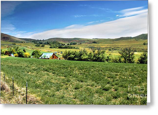 Butte Ranch Greeting Card by Robert Bales