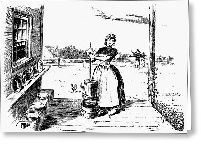 Butter Churn, 19th Century Greeting Card