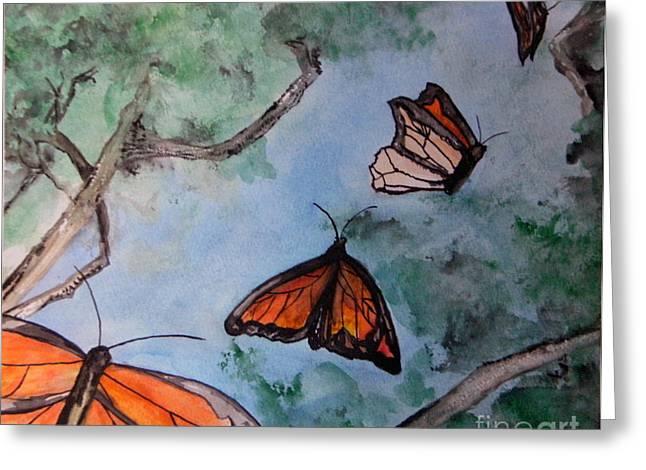 Butterflies Greeting Card by Jana Barros