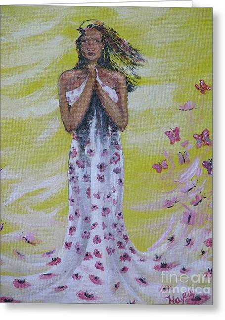 Greeting Card featuring the painting Butterfly by Barbara Hayes