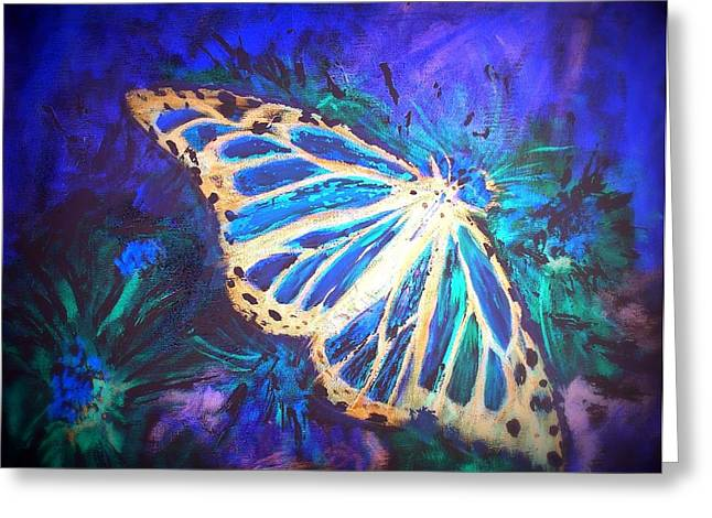 Greeting Card featuring the mixed media Butterfly Beauty 2 by Raymond Doward