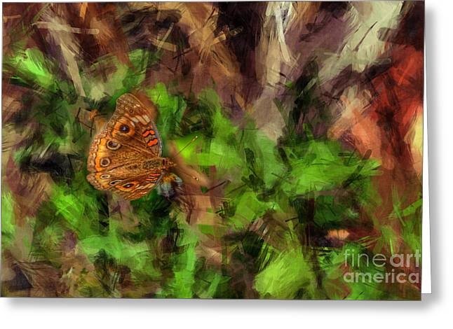 Greeting Card featuring the photograph Butterfly Camouflage by Dan Friend