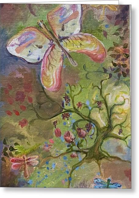 Butterfly Daydream Greeting Card by Elizabeth Clary-Boyd