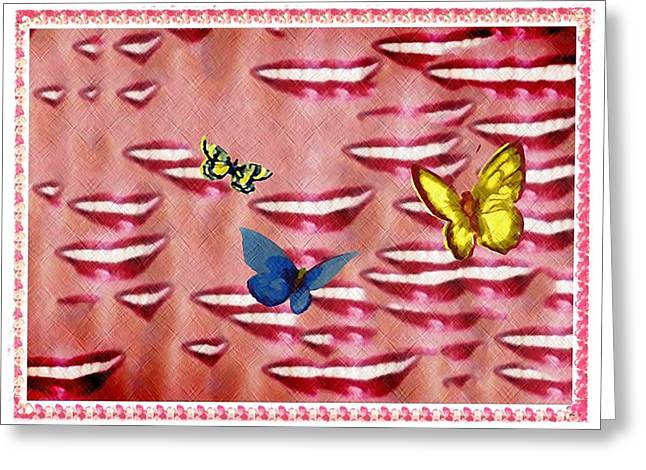 Butterfly Kisses Greeting Card by Bill Cannon
