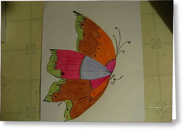 Butterfly  Greeting Card by Michael Owens
