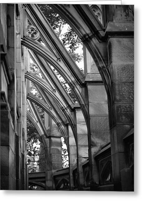 Buttresses Greeting Card by Jen Morrison