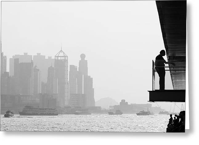 Bw City  Greeting Card by Kam Chuen Dung