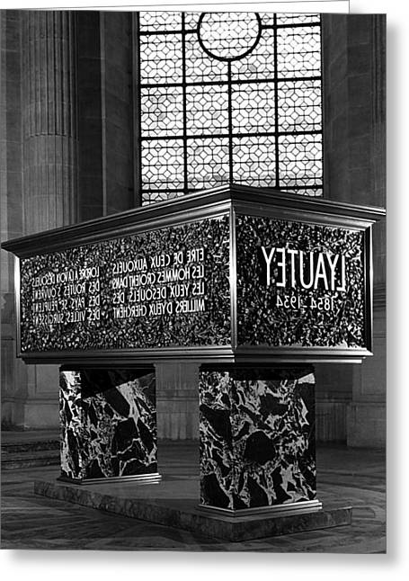 Bw France Paris Marshal's Lyautey Tomb 1970s Greeting Card by Issame Saidi