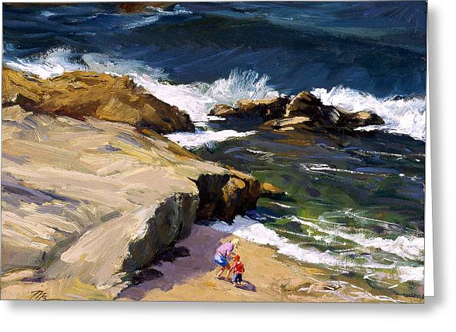 By The Beautiful Sea Greeting Card by Mark Lunde