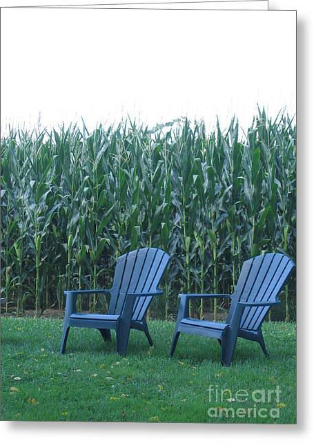 By The Cornfield Greeting Card by Marlene Robbins