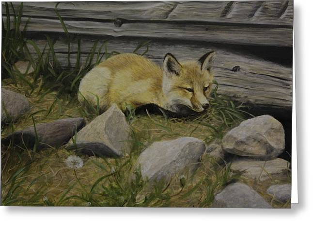 By The Den Greeting Card
