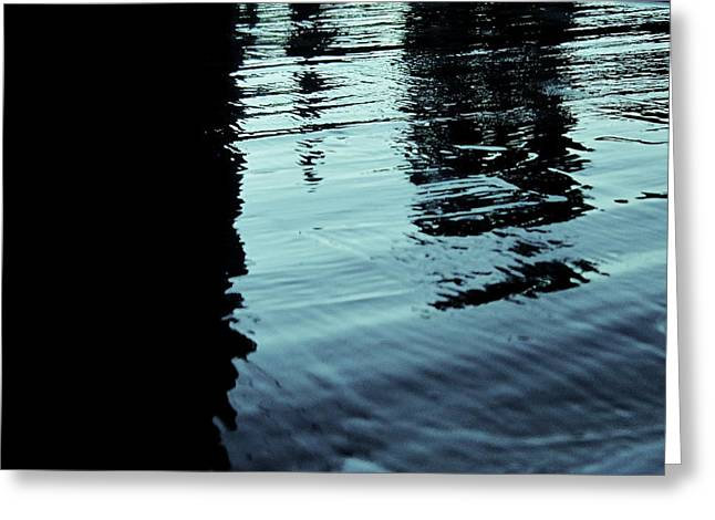 ..by The Lake.. Greeting Card by Adolfo hector Penas alvarado