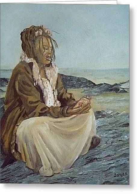 By The Shore Greeting Card by Joyce Reid