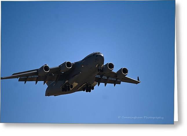 C-17 In Flight Greeting Card