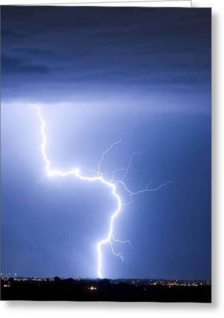 C2g Lightning Strike Greeting Card by James BO  Insogna