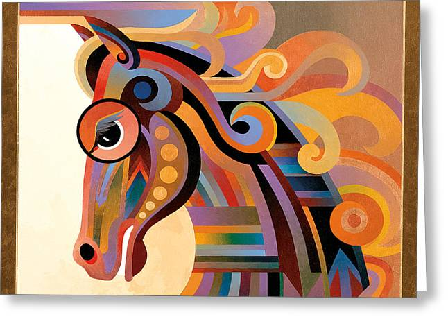 Caballo Greeting Card by Bob Coonts
