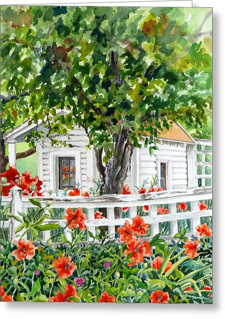 Cabin At Long's Gardens Greeting Card