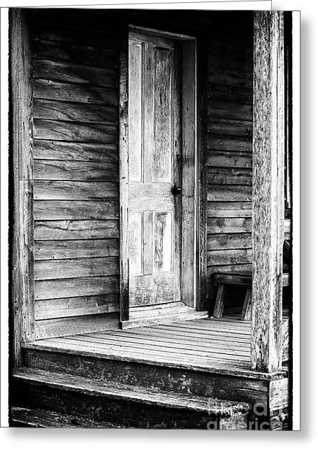 Cabin Door Greeting Card by John Rizzuto