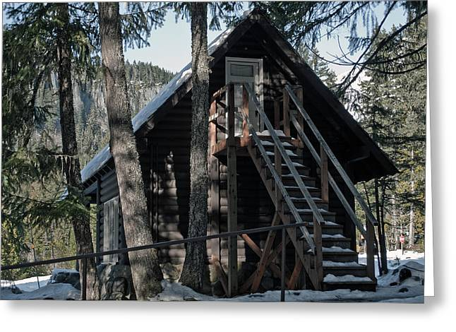 Greeting Card featuring the photograph Cabin Get Away by Tikvah's Hope