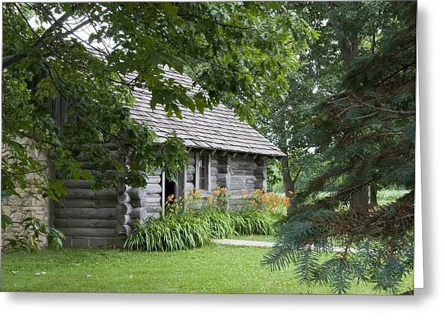 Cabin In The Woods - Little House Wayside Greeting Card