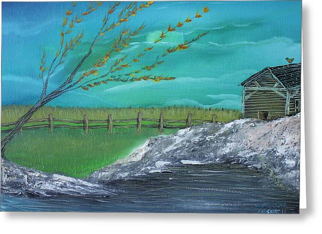 Cabin Greeting Card by Shadrach Ensor