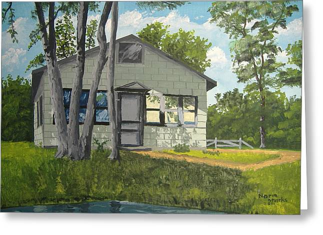 Cabin Up North Greeting Card by Norm Starks