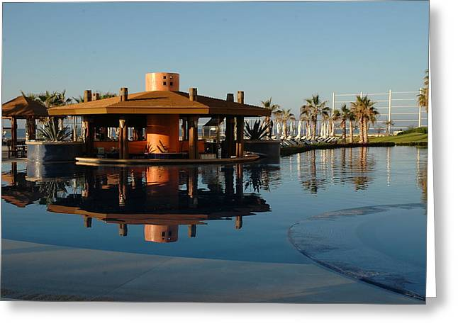 Cabo Reflection Greeting Card by David Taylor