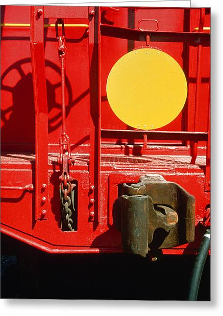 Caboose Greeting Card by Jan W Faul