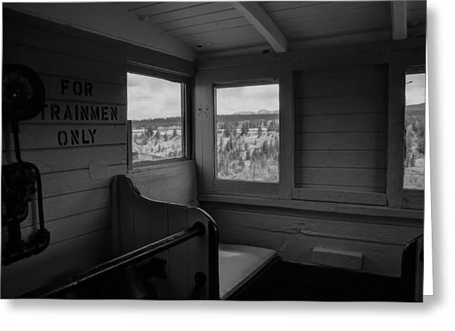 Caboose Steam Train Greeting Card by Al Reiner