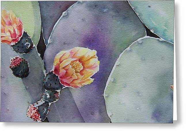 Cactus Bloom Greeting Card by Regina Ammerman
