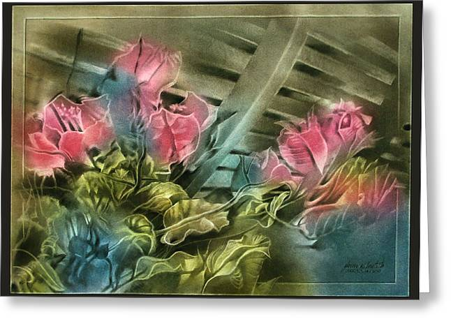 Greeting Card featuring the pastel Cactuscompc 2010 by Glenn Bautista
