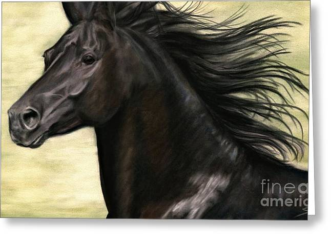Greeting Card featuring the painting Cadence by Sheri Gordon