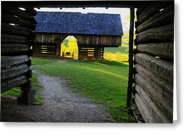 Greeting Card featuring the photograph Cade's Cove Cantilever by Doug McPherson