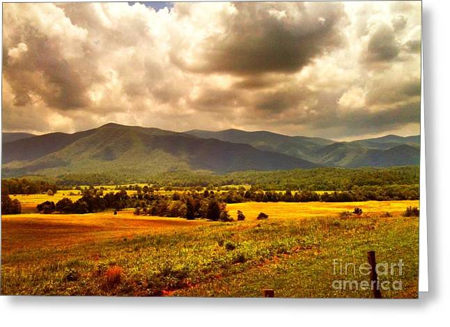 Greeting Card featuring the photograph Cades Cove by Janice Spivey