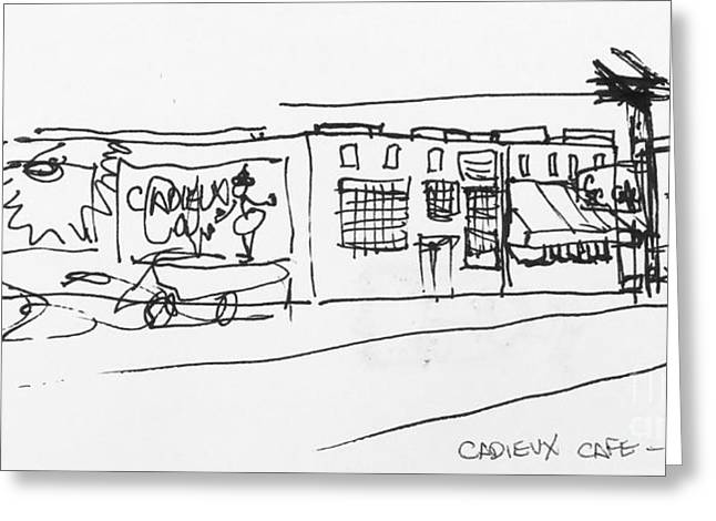 Cadieux Cafe Greeting Card
