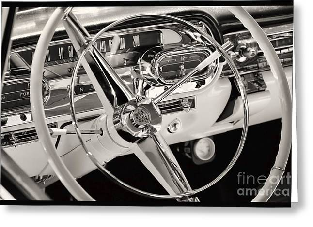 Cadillac Control Panel Greeting Card by Miso Jovicic