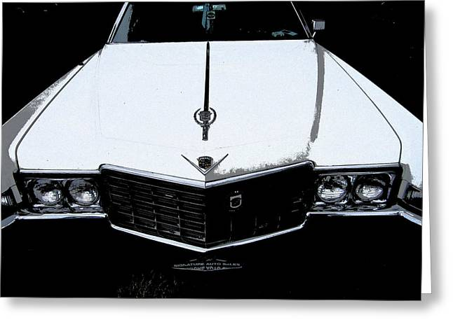 Greeting Card featuring the photograph Cadillac Pimp Mobile by Kym Backland