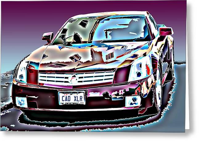 Cadillac Xlr Greeting Card