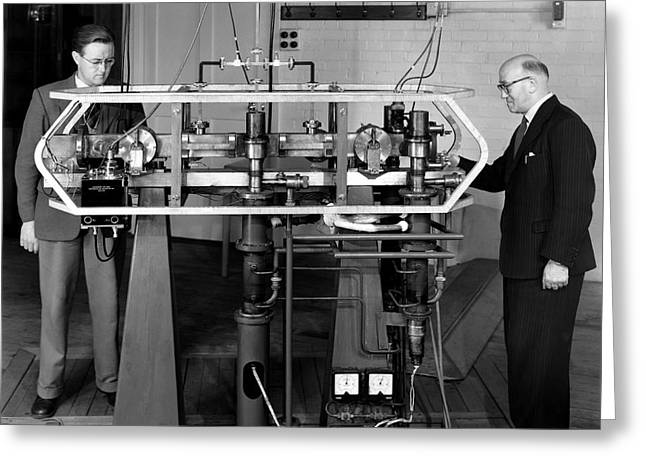 Caesium Atomic Clock, 1956 Greeting Card by National Physical Laboratory (c) Crown Copyright
